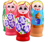 1set/lot New Russian Nesting Matryoshka Dolls, Wood Nesting Doll Handpainted, Cute Gift RD1001