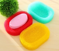 2014 new fashion personal care sponge bath accessories  sponge body and easy to dry absorbent cleaning brush bath soap box