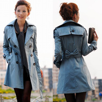 2012 spring and autumn women's fashion noble elegant gentlewomen slim Double-breasted  coat   Free Shipping