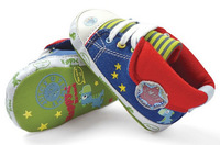 Five-pointed stars high quality soft sole baby boy canvas prewalker shoes infant shoes baby  first walkers free shipping+retail,