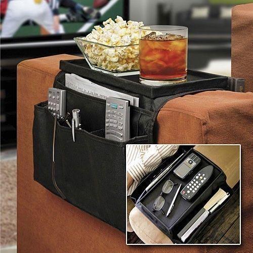 Vacuum Bag Storage 6 Pockets Sofa Handrail Couch Armrest Arm Rest Organizer Remote Control Holder Bag On Tv Corrimao Braco Resto(China (Mainland))