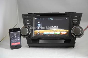 3G HOST+Car Head Unit Sat Nav DVD Player for Toyota Highlander / Kluger 2008 - 2012 with GPS Navigation Radio TV Stereo System