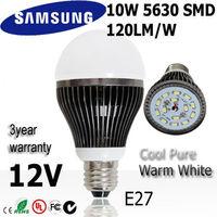 Super Quality 4pcs/lot 10w led light bulb b lamp E27 12V SAMSUNG SMD 120L/W    3year warranty :A68-10-2-12V
