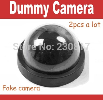 Fake Decoy Dummy CCTV Dome Camera for Home Security  System with Red Blinking LED no wiring necessary