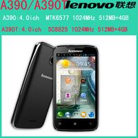 Original Lenovo A390 MTK6577 Dual Core Mobile Phone Android 4.0 RAM 512MB ROM 4GB Dual SIM GSM WCDMA GPS Russian Multi Language
