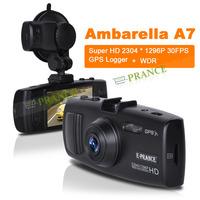 Promotion 100% Original 3H2F GS6000 Ambarella A7 GPS Car DVR Recorder +Night Vison+ Super HD 2304*1296P 30FPS + GPS Logger C2-1