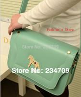 Free shipping,2014 bag golder horse animal prints PU leather women messenger bags/women leather handbags/women handbag,1 pcs/lot