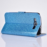 latest luxury glitter galaxy SIII Diamond buckle Flip cover case for Samsung galaxi S3 I9300 mobile phone bags with stand
