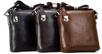 Man bag shoulder bag men genuine leather briefcase bag, casual men's messenger bag, free postage