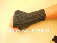 Free Shipping 2014 New Arrival Korean Design Knitted Women Gilrs's Medium length Design Autumn Winter Warm Fingerless Gloves