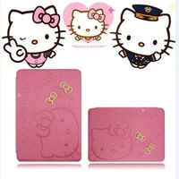 Hotsale 2013 Hello Kitty Cartoon Case for Samsung Galaxy Note 10.1 protective shell  holster N8000 Cover  FREE SHIPPING