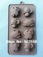 Free shipping 8-even butterfly frog silicone cake/chocolate  mold cupcake mould baking tools