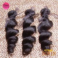 Queen Peruvian Loose Wave Virgin Hair 3pcs/lot Grade 6A 12-30inch 1B Natural Color 100% Human Hair