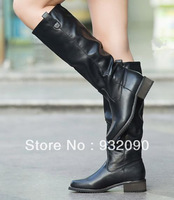 High boots for women Low-heeled