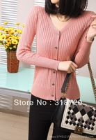 100% NEW wholesale Women's fashion clothes T-Shirt Vintage twist sweater coat   +Free Shipping YF0090