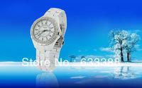 New Arrivals Imitation White Ceramic Quartz watch,Fashion K043 Women Ceramic Watches,Free Shipping Dropshipping