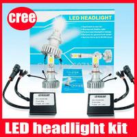 LED headlight 50w per sets 2100lm for auto headlight car led light cree waterproof h1 h7 h8 h9 h11 9005 9006 d1 d2s white