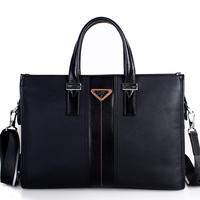 men Genuine leather handbag, commercial genuine leather man briefcase, cross-body shoulder bag