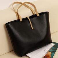 0525HOT new 2013 Black Leather Fashion Luxury Lady Ladies Women's Messenger Bags Woman Shoulder Handbag Bag