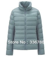 Women Basic Fashion Genuine Ultralight Warm Stand Collar Down Jacket