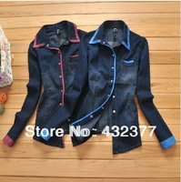 New 2013 Korea Women Hoodies plus size Coat  Zip Up Outerwear  stripe pullover sweatshirts Red/Green stripe  free shipping