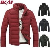 Brand Winter Jacket Men Stand Collar Slim Fit Cotton Wadded Man Warm Coats Down Jackets Male Parkas Men's Down-Jacket TX856