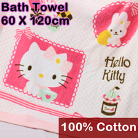 120x60cm Cotton Bath Towel Hello Kitty Towel Toalha Children girl favors Beach Wraps Salon Towels Gift for adults kids 8069-1