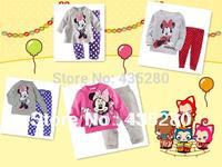 New 2014 Autumn Winter Baby Christmas Pajamas 2PCS Long T Shirt+Pants Clothing Sets Kids Sleepwear Baby Tracksuits Free shipping