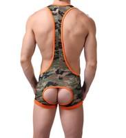 Camouflage Jockstrap Wrestling Singlet Bodywear Struggles,Men's Underwear !