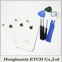 Free shipping 100PCS/LOT for iphone 4S back battery housing cover glass rear frame assembly,one order one tool