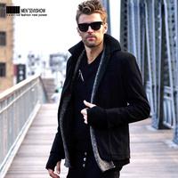 viishow black men coat trench coats men's short fashion fur collar man brand male warm slim casual windbreaker British s xxxl