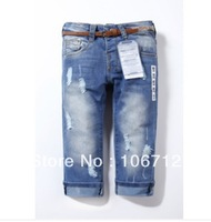 Free shipping Retail fashion cool cotton denim boys jeans brand children's long pants for 2-8 years kids girls pants 1pcs