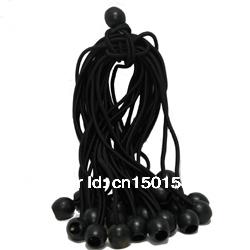 "100PCS 6"" Black Ball Bungee Cord Tarp Bungee Tie Down Strap Bungi Canopy Straps(China (Mainland))"