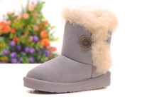 IN STOCK! Free shipping!2013 HOT ! Girls Snow Boots Thicken Winter Children Shoes For 3-8 yrs Kids New Style 5 colour