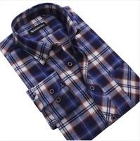 [MG06] Famous Brand BOZE Shirts/Long Sleeve Thickening Plaid Shirts Casual Slim Fit 100% Quality Guarantee Free Shipping