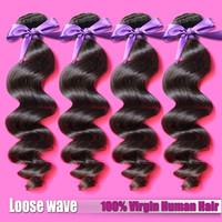 Peruvian loose wave 3pcs lot grade 6A unprocessed human hair Luvin hair products Peruvian virgin hair loose wave
