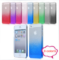 2013 new arrival fashion waterdrop Transparent Case for Apple iPhone 5C iphone5c back cover hard housing 1 piece free shipping