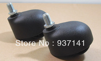 Heavy Duty Fixed Type Double Ball Bearing  Single nylon wheels