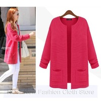2013 Korean Women Lady Cotton Candy Color Knit Blouse Sweater Cardigan Long Sleeve Sweater Ladies Cardigans Free Shipping nz131