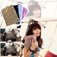 FREE SHIPPING Dazzling Glitter Sparkling Bling Sequins Evening Party Bag Women Handbag Clutch