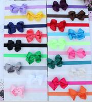 50pcs Baby Ribbon Bowknot Headbands Girl Flower Headbands Children Hair Accessories Photography Props Baby Bows Hair Bands