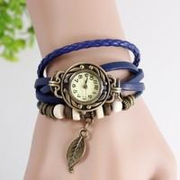 montre femme fasion hot selling brand quartz leather watch women relojes de lujo leafts antique dress watches relogios feminino