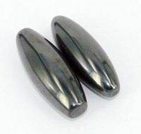 Free Shipping One Pair Oval Hematite Chatter Magnet Stones Singing Buzz Sound Stones