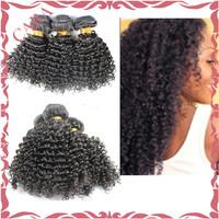 Mongolian Afro Kinky Curly Virgin Hair Human Hair Natural Black Free Shipping Cara Hair Products 3PCS/Lot Mongolian Curly Hair