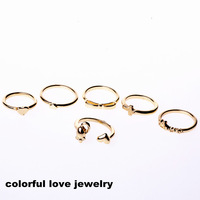 Кольцо fashion korean vintage rock punk 24k gold plated bridal rings accessories for women A-446