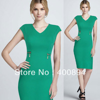 WHOLESALE  Womens V Neck Pinup Rockabilly Bodycon Business Shift Party Pencil Wiggle Dress