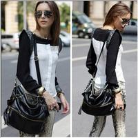 New Fashion Handbags Korean Hobo PU Tassel Leather Handbag Shoulder Bag Large Capacity Free shipping