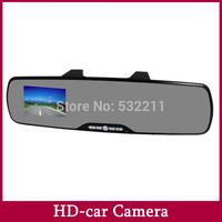 "Rearview  Mirror Car DVR Camera Recorder Hidden Car Black Box G-Sensor 2.7"" Screen 120 degree Angle+Motion Detection"