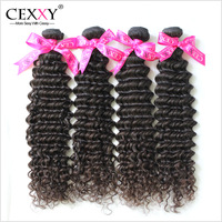 Cexxy Virgin Peruvian Hair Human Hair Weave Deep Curly 4PCS/LOT 6A Unprocessed Queen Weave Beauty Free Shipping