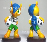 EMS send Y-69 Factory outlets Cup Brazil 2014 World Cup mascot mascot toys and gifts  World Cup souvenirs High 13cm, base 7cm